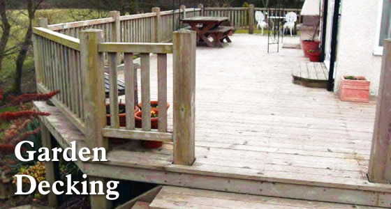 Joinery  - garden decking sheds and pergolas