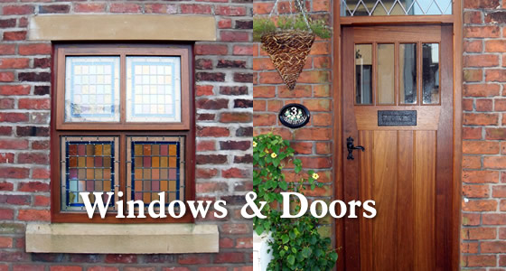 Joinery -wooden framed windows and doors